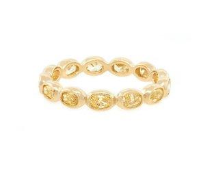 Trabert Goldsmiths 1.26ct Yellow Oval Diamond Eternity Band E1708