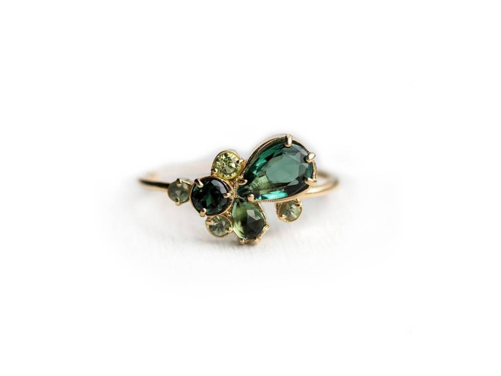 Melanie Casey Willow Green Cluster Ring