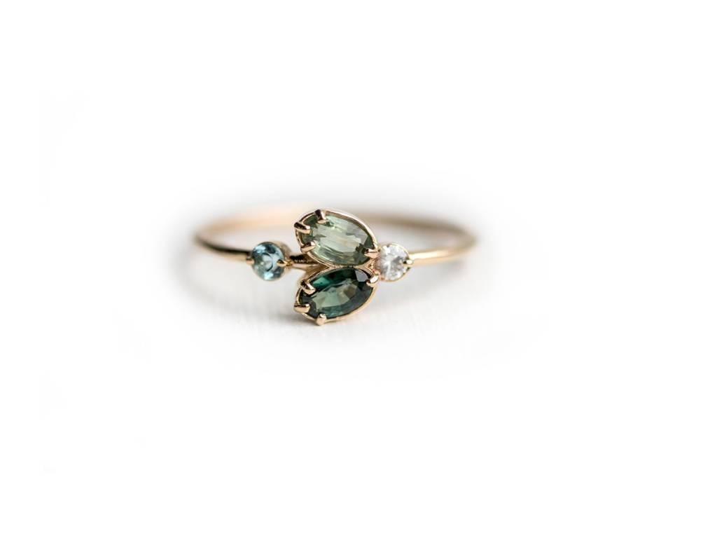 Melanie Casey Juniper Green Cluster Ring