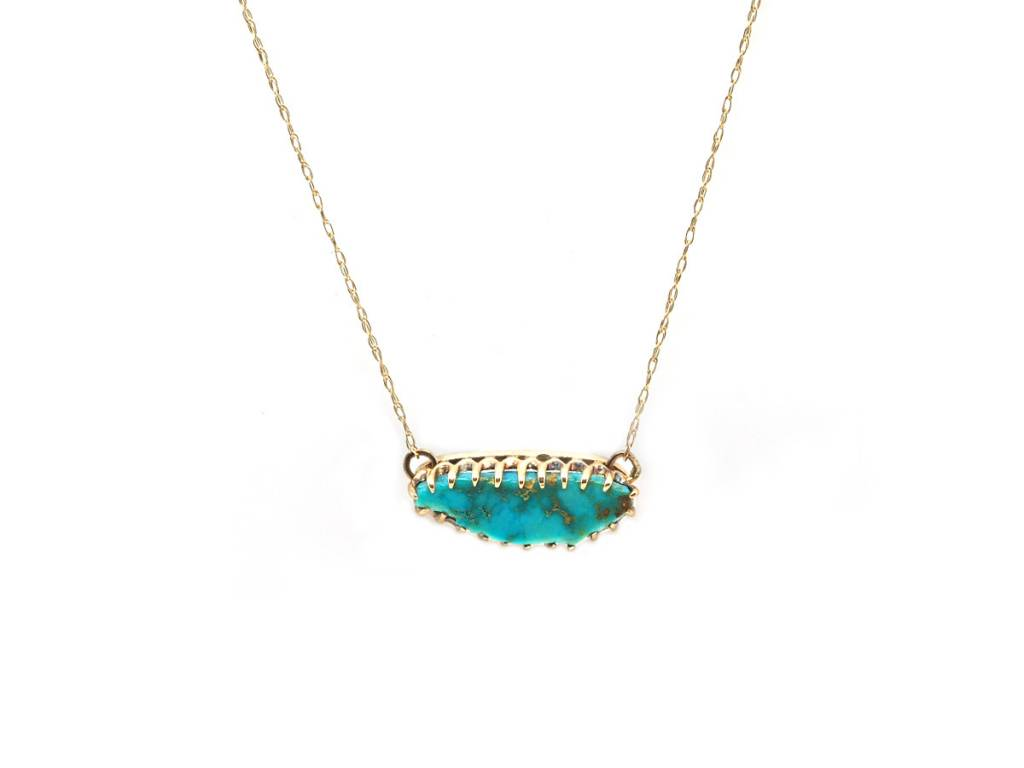 Trabert Goldsmiths Antique Turquoise Gold Necklace