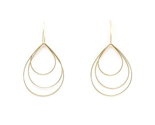 Trabert Goldsmiths Delicate Geometric Gold Hoop Earrings E1726