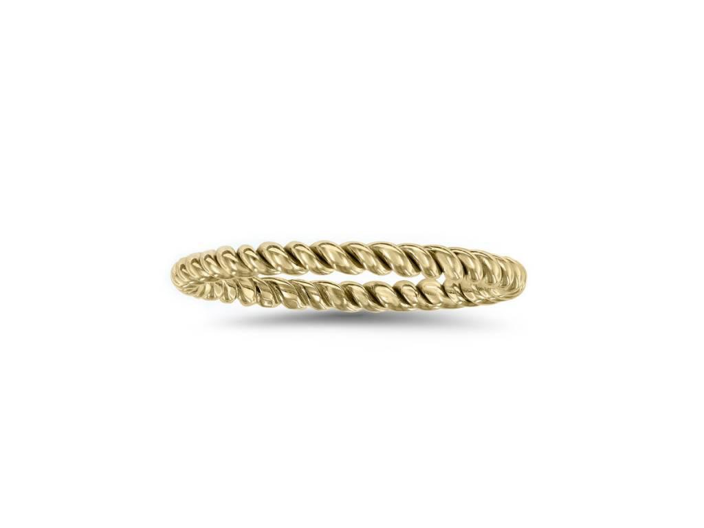 Novell Twisted 14k Gold Band N4