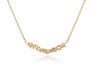 Trabert Goldsmiths 0.42ct Baguette Diamond Bib Necklace E1670