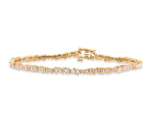 Trabert Goldsmiths Freeform Baguette Diamond Bracelet E1698