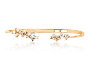 Trabert Goldsmiths Organic Baguette Diamond Cuff Bracelet E1701