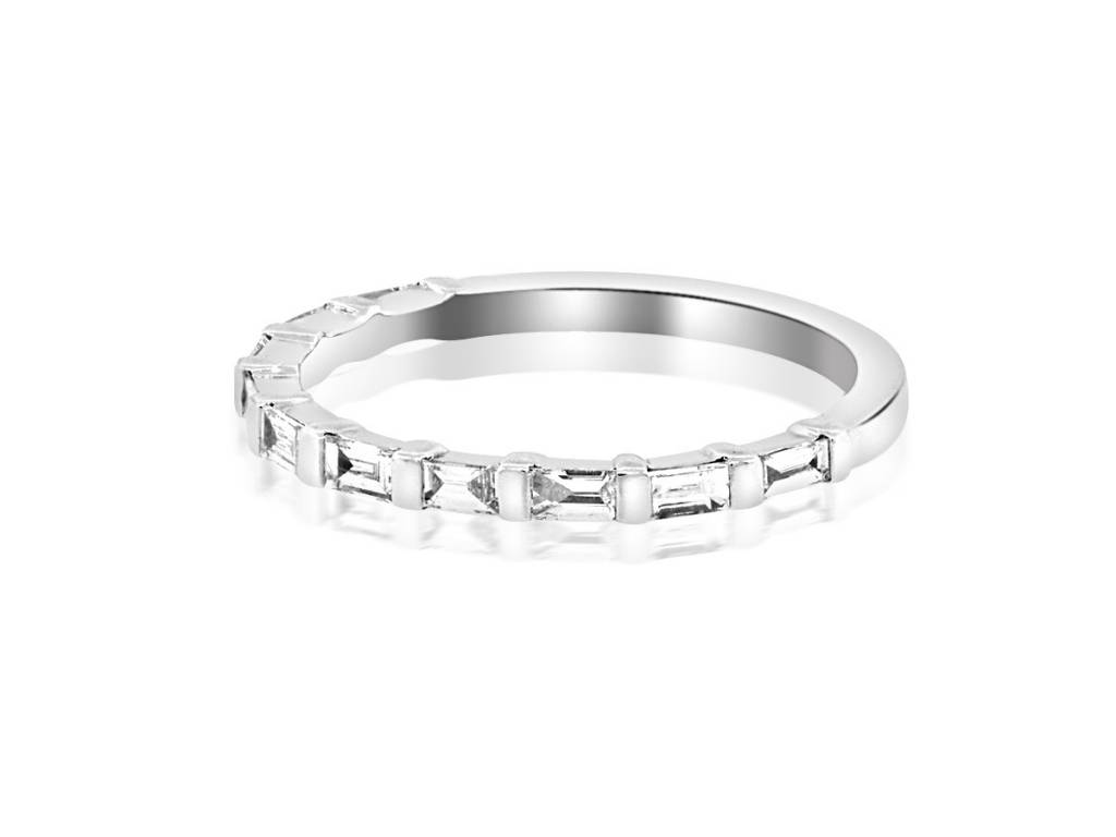 Beverley K Collection Baguette Diamond Half Eternity Band