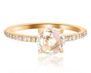 Trabert Goldsmiths 1ct Rose Cut Diamond Polaris Ring E1466