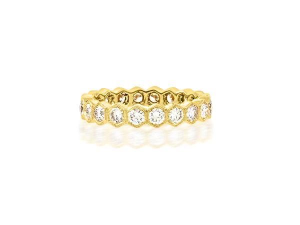Beverley K Collection Hexagonal Diamond Eternity Band