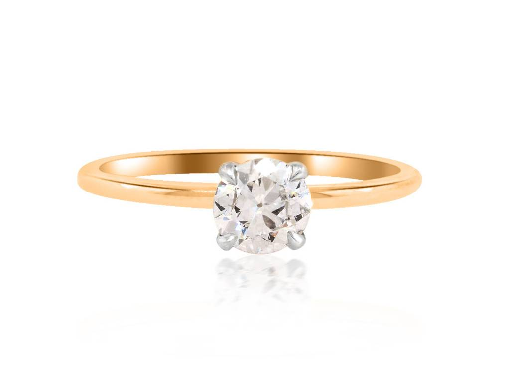 Trabert Goldsmiths .48cts Diamond Baby Solitaire Ring