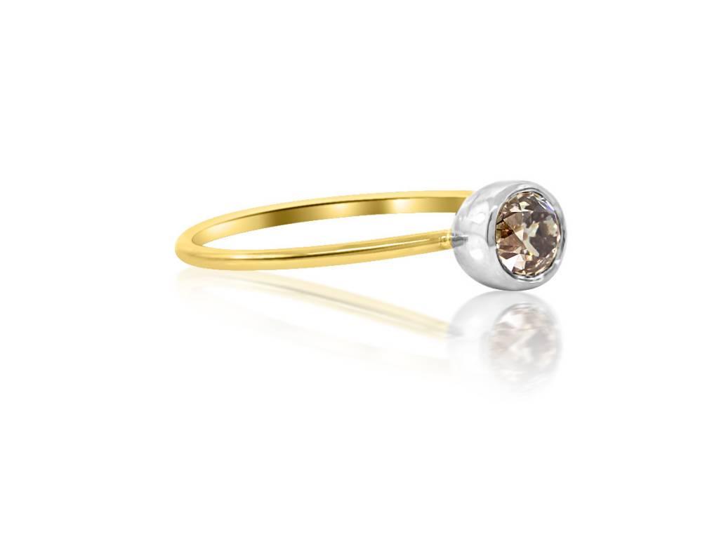 Trabert Goldsmiths 0.27ct Bezel Set Diamond Ring
