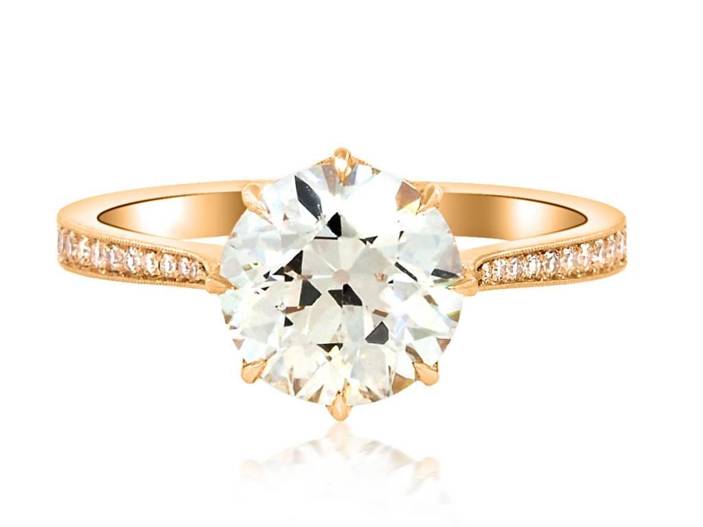 Erika Winters 2.06ct OVVS2 Diamond Victoria Ring
