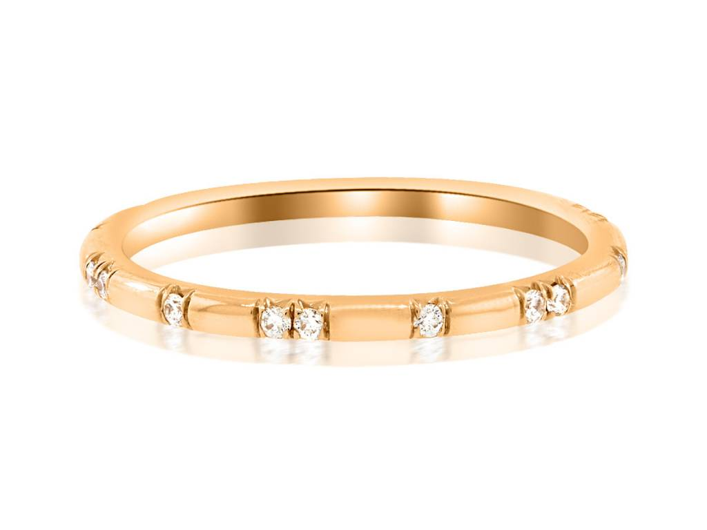 Trabert Goldsmiths Ursa Minor Diamond Rose Gold Band