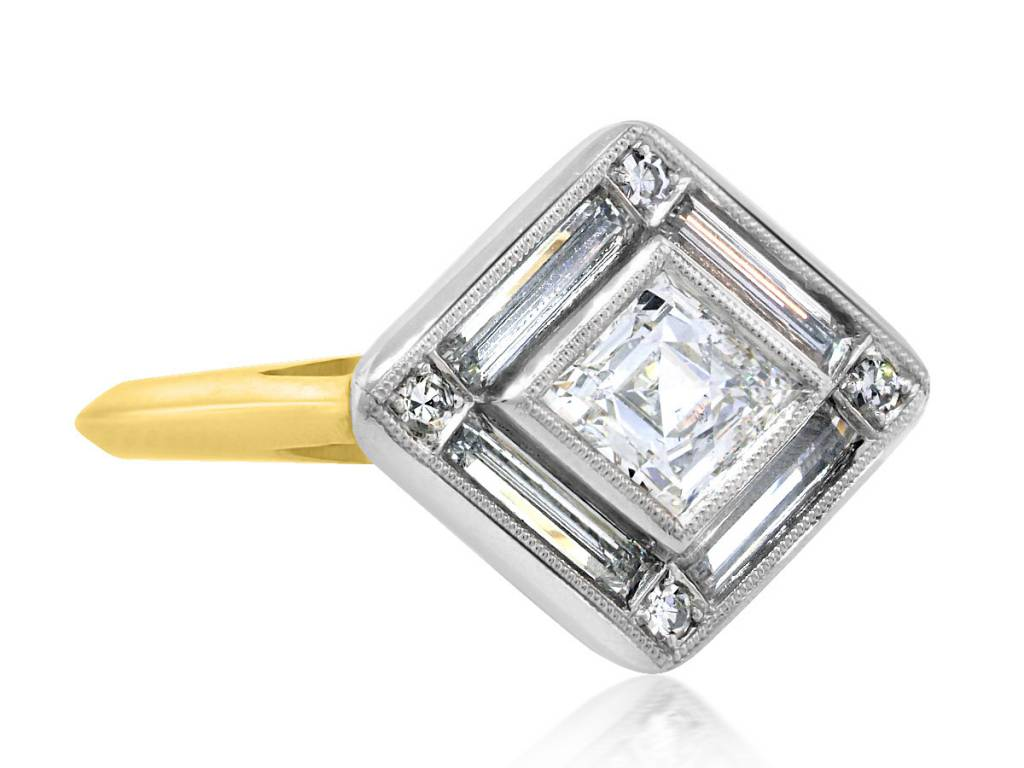 Trabert Goldsmiths Kite Diamond Supernova Ring