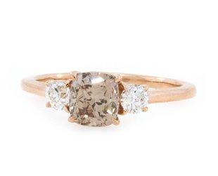 Trabert Goldsmiths 1.09ct Champagne Diamond Trinity Ring E1743