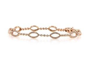 Marquise Patterned Diamond Bracelet LV77