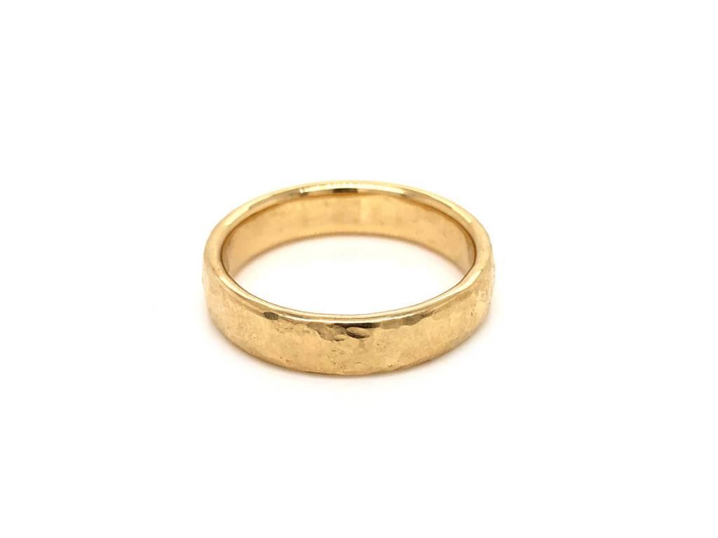 Trabert Goldsmiths 5mm Textured Alchemy Gold Ring