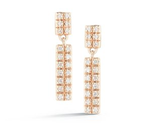 Dana Rebecca Pave Diamond Bar Drop Earrings DR6