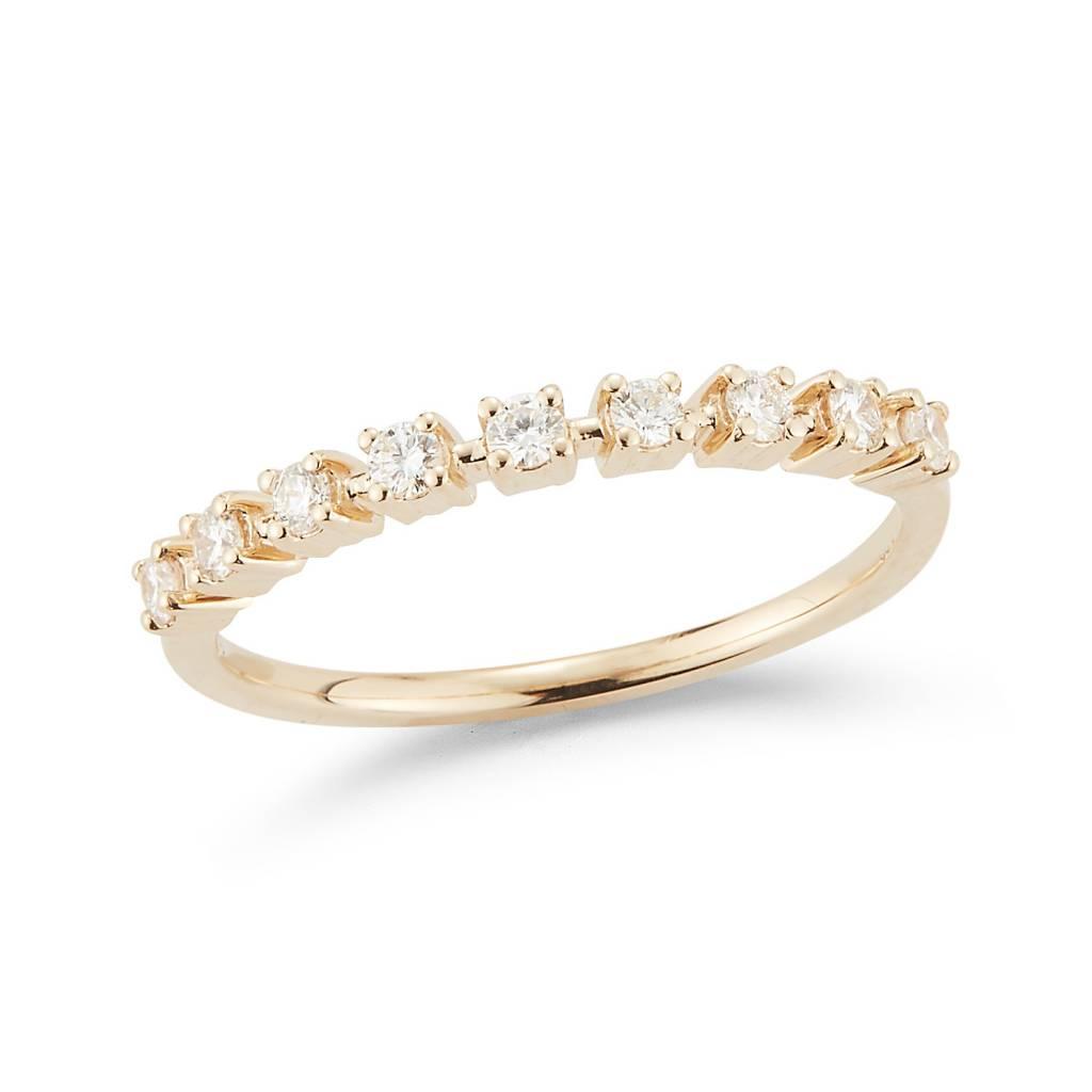 Dana Rebecca Delicate Half Diamond Gold Band