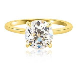 Trabert Goldsmiths 2ct KVS2 Old Mine Diamond Aura Ring E1399