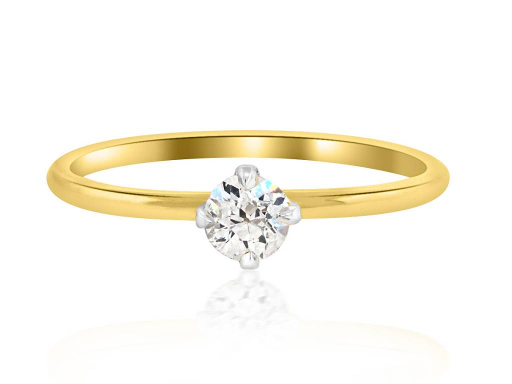 Trabert Goldsmiths .25cts Diamond Baby Solitaire Ring