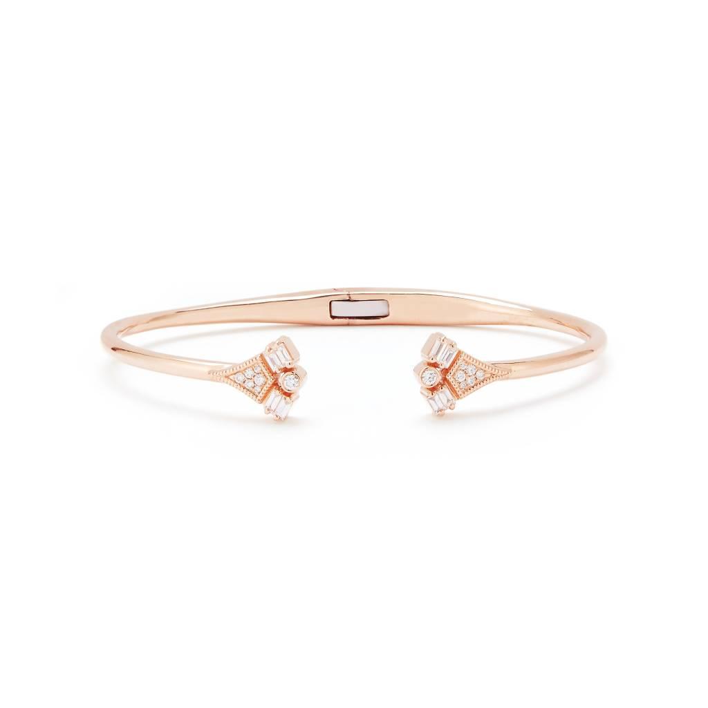 Dana Rebecca Rose Gold and Diamond Cuff Bracelet