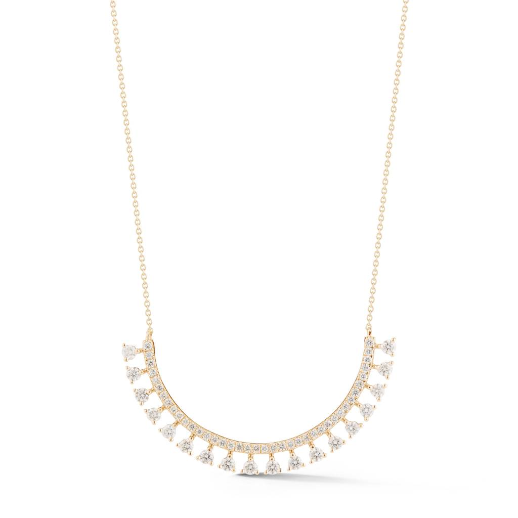 Dana Rebecca Curved Diamond Bib Necklace