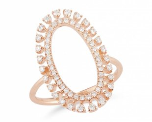 Dana Rebecca Open Oval Diamond Ring DR15