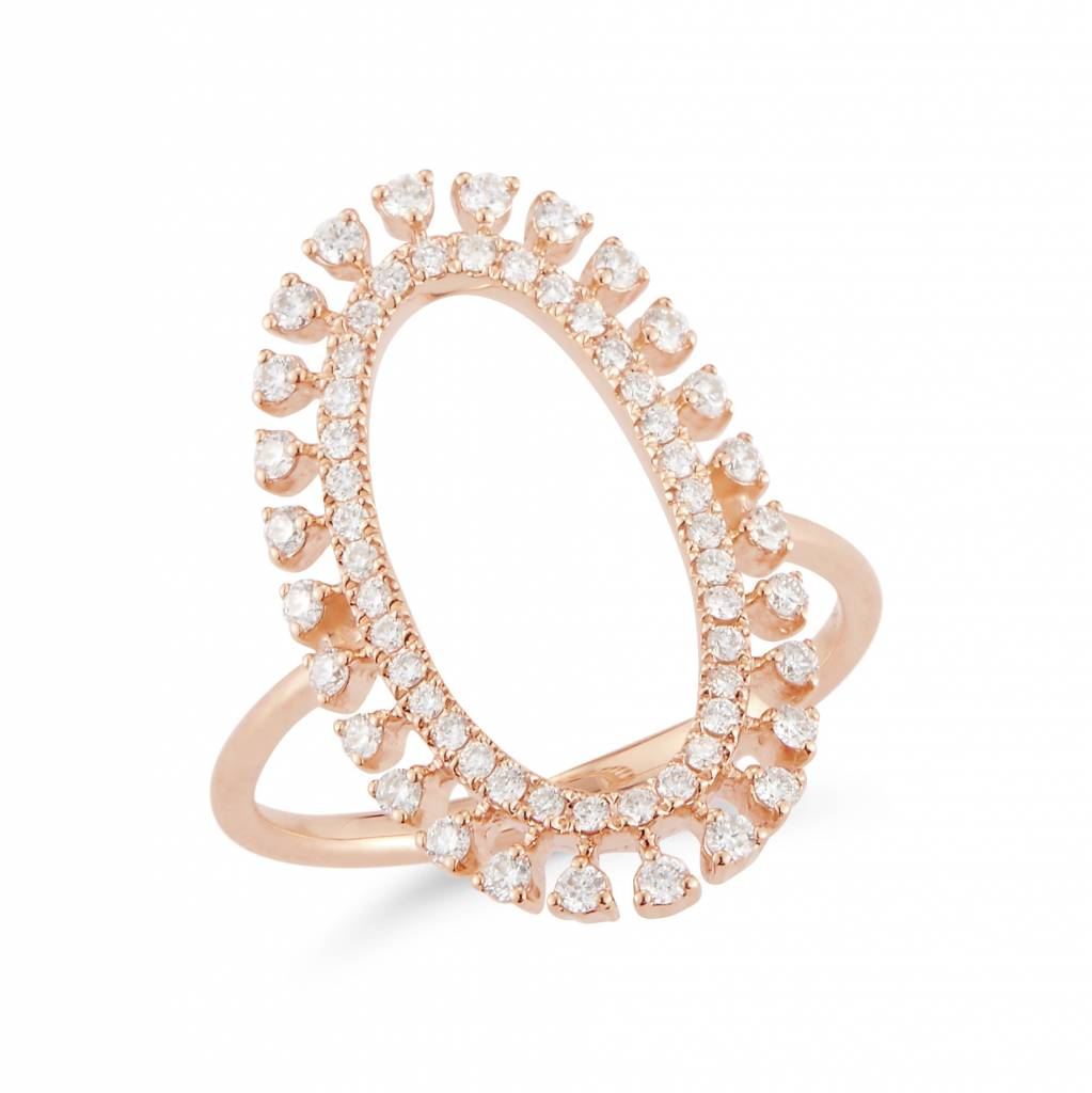 Dana Rebecca Open Oval Diamond Ring