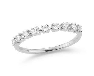 Dana Rebecca Delicate Half Diamond White Gold Band DR16