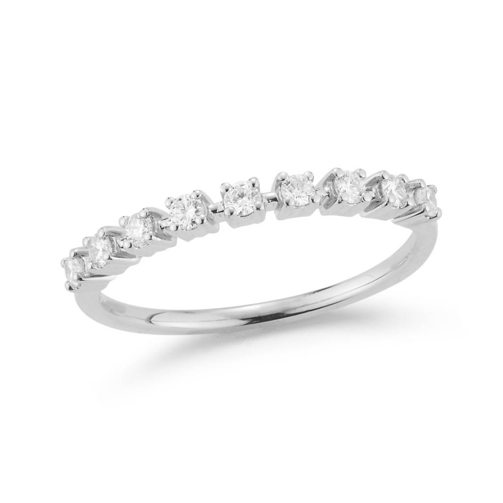 Dana Rebecca Delicate Diamond White Gold Band
