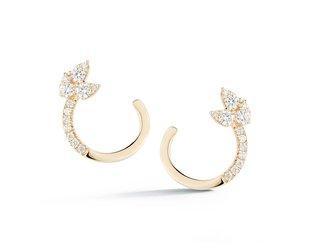 36f761984dd029 Dana Rebecca Diamond Half Hoop Gold Earrings DR22