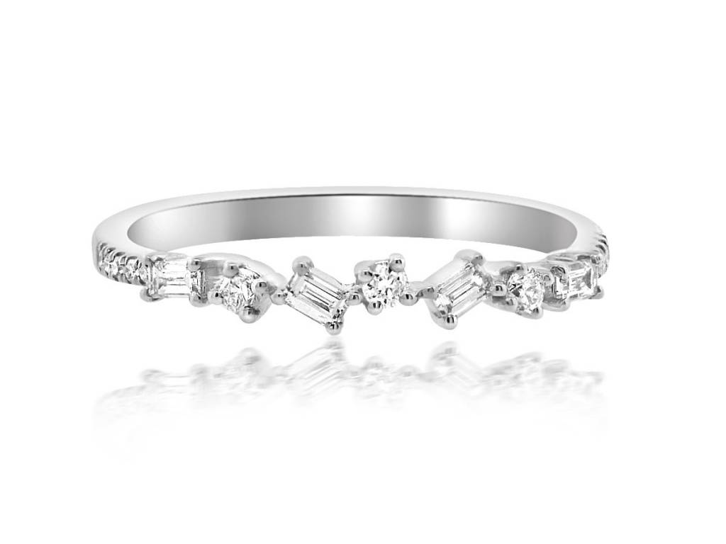 Liven Mini Baguette Diamond White Gold Ring