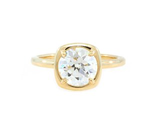 Trabert Goldsmiths 1.83ct KVS2 OEC Dia Cushion Illusion Ring E1752