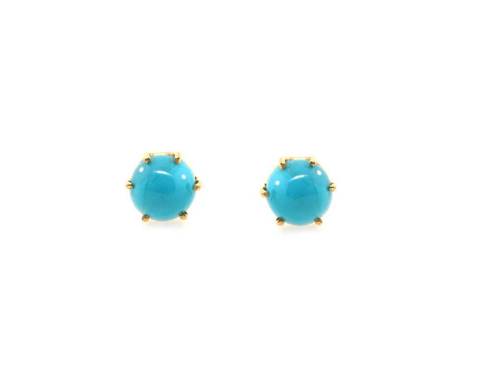 Trabert Goldsmiths Antique Turquoise Stud Earrings