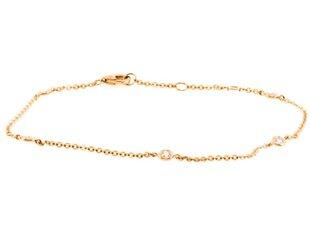 Liven Delicate Diamond Rose Gold Chain Bracelet LN37