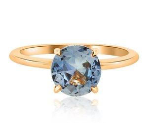 Trabert Goldsmiths 1.96ct Montana Sapphire Aura Ring E1599
