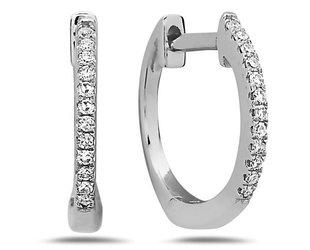 Dilamani Small Pave Diamond Hoop Earrings DL17