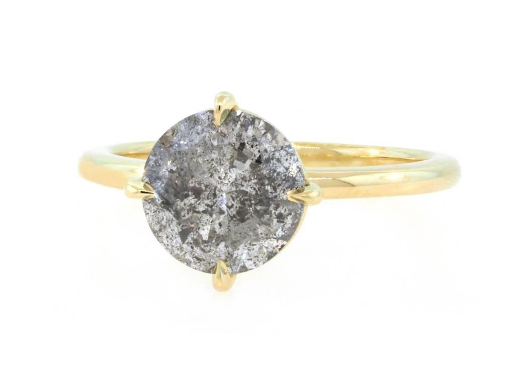 Trabert Goldsmiths 2.51ct Salt and Pepper Galaxy Diamond Aura Ring