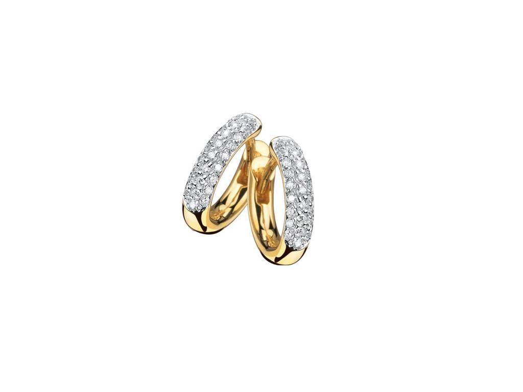 Trabert Goldsmiths Diamond Pave Small Huggie Hoops