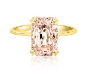 Trabert Goldsmiths 5.53ct Peach Sapphire Aura Ring E1640