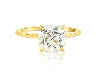 Trabert Goldsmiths 2.38ct Cush Cut Moissanite Aura Ring E1763