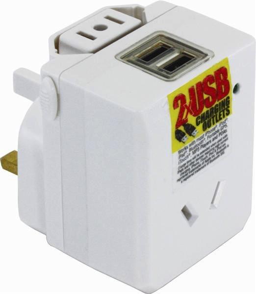 OSA Brands Universal Travel Adaptor With USB