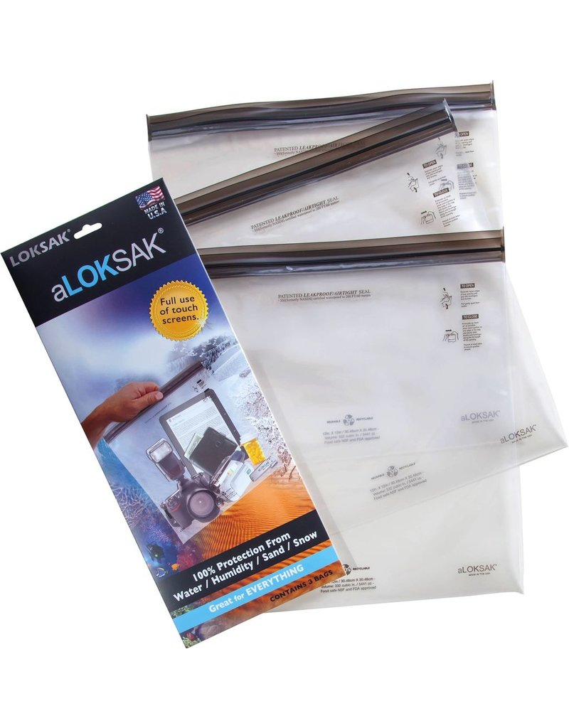 ALOKSAK ALOKSAK WATERPROOF BAG MULTI PACKS SIZE ITM SIZE 12X12 (3 PACK)