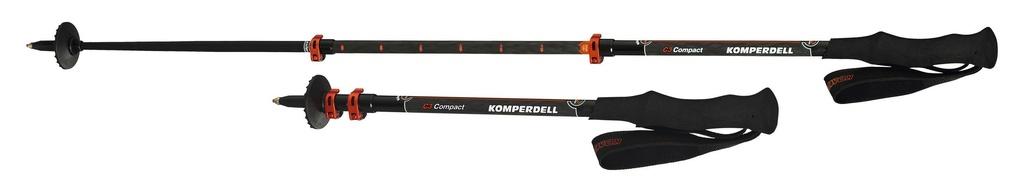 KOMPERDELL KOMPERDELL C3 CARBON POWERLOCK COMPACT 3 TREKKING POLES