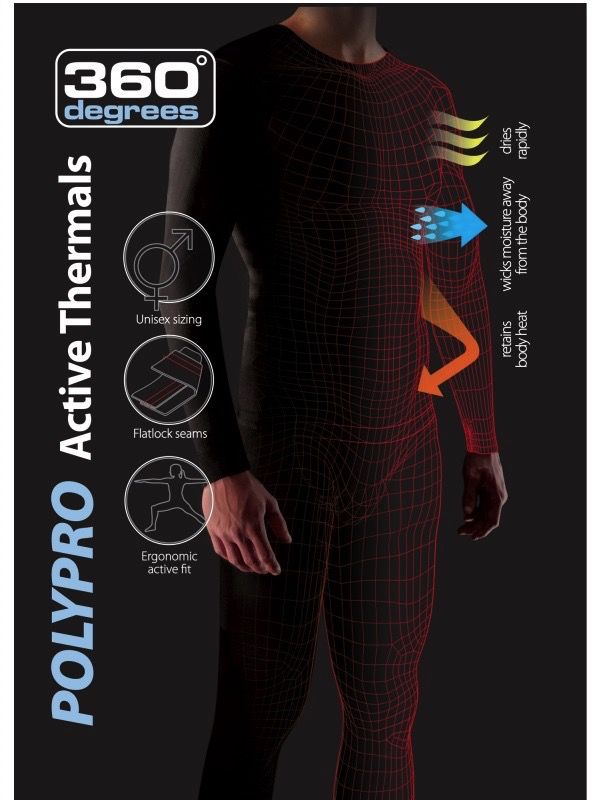 360 DEGREES 360 POLYPRO UNISEX Thermal BOTTOMS