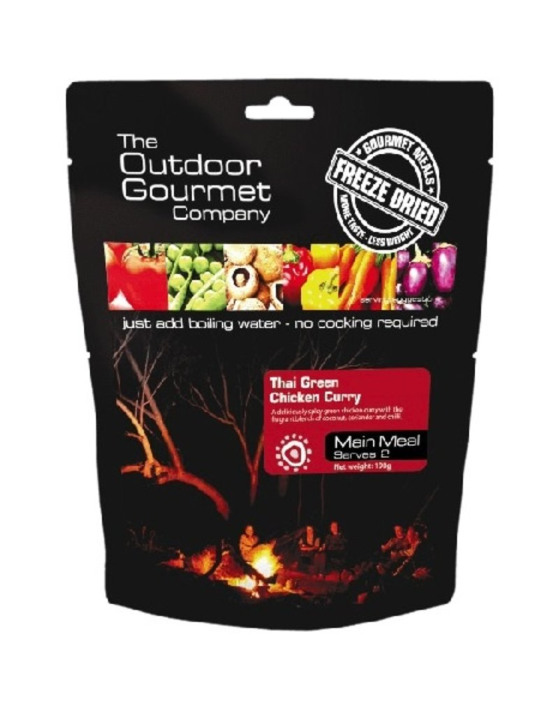 BACKCOUNTRY OUTDOOR GOURMET THAI GREEN CHICKEN CURRY (DOUBLE SERVE)