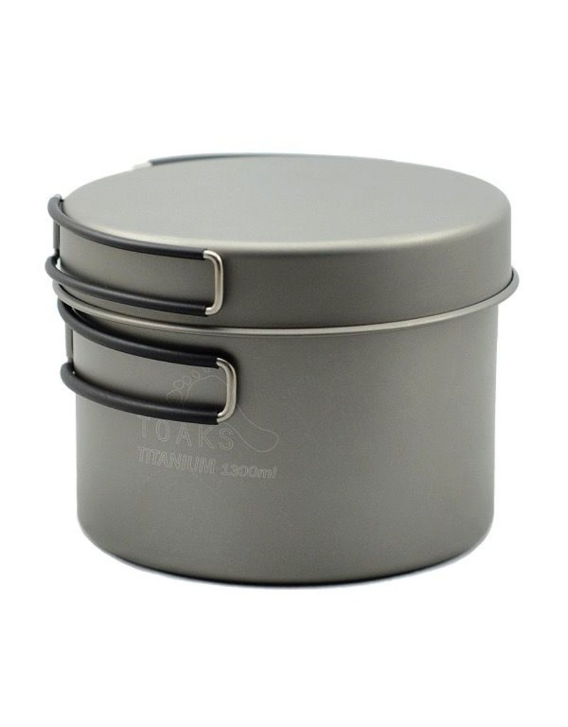 Toaks Titanium TOAKS TITANIUM POT WITH FRYPAN 1300ML