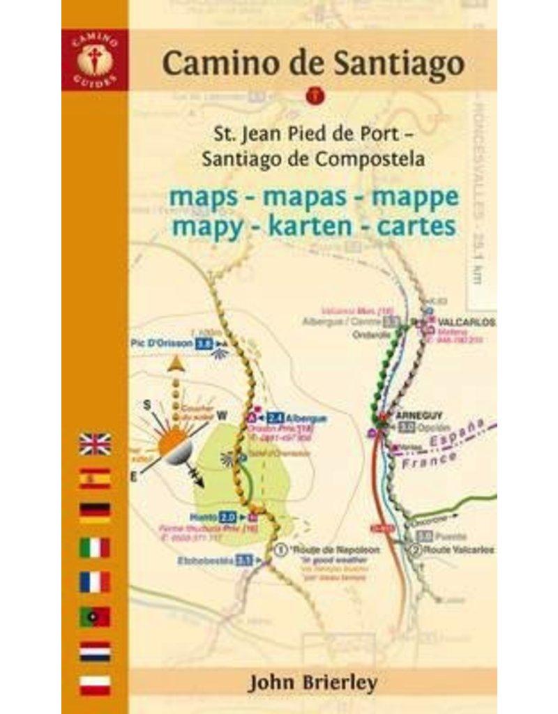 GUIDE BOOKS CAMINO de SANTIAGO MAPS BY JOHN BRIERLEY 2017
