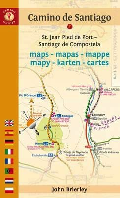 GUIDE BOOKS CAMINO de SANTIAGO MAPS BY JOHN BRIERLEY 2018