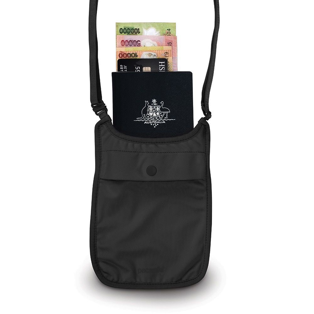 PACSAFE PACSAFE COVERSAFE S75 SECRET NECK POUCH BLACK
